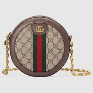 NEW Gucci Ophidia GG Supreme Round Mini Bag